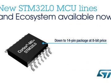 意法半导体推出新款STM32L0系列微控制器及功能全面的开发生态系统