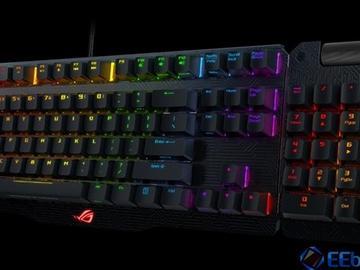 华硕发布世界首款变形机械键盘ROG Claymore Core