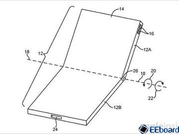 苹果获得可折叠OLED屏iPhone设计专利 采用独特铰链结构