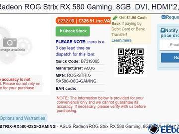 爆料称 AMD Radeon RX 500 系列独显新品有望下周正式开售