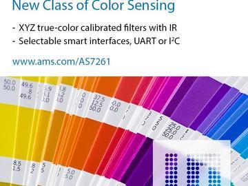 艾迈斯半导体公司宣布推出集成的颜色传感IC