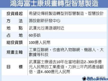 富士康拟在武汉建创新研发中心,首期投入50亿人民币