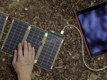 薄如纸片的便携式太阳能电池板问世,出门给手机充电再也不用充电宝了