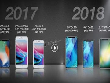 传苹果明年推3款iPhone:包括超大型iPhone X