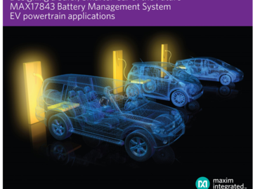 Maxim推出最新高级电池管理系统,助力更安全、更智能的未来汽车