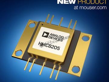 贸泽开售Analog Devices HMC8205 GaN功率放大器,为宽带设计提供理想选择