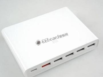 小米USB充电器60W快充版开箱图赏:6口USB,售价129元