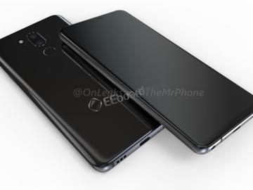 LG骁龙845新机G7外形360°曝光,后指纹、双摄造型
