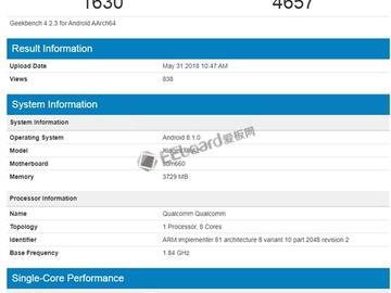小米A2现身GeekBench:搭载骁龙660,或提供6GB+128GB高配版