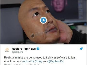 [视频]REAL-f打造超仿真面具用于训练面部识别 AI