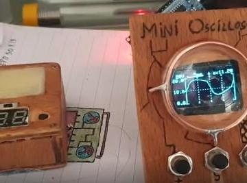 基于arduino带OLED屏幕的示波器diy