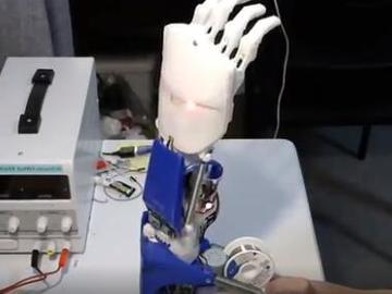 基于树莓派和Arduino的3D打印假肢diy-支持CV、BCI以及EMG