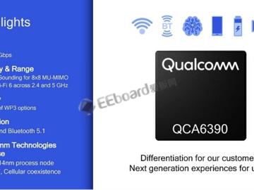 高通推出QCA6390芯片组 支持蓝牙5.1+14FF CMOS 工艺制造