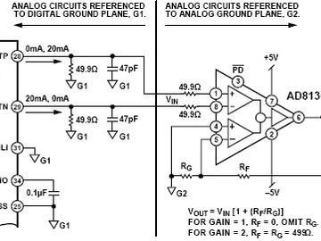利用差分接收放大器差分转单端