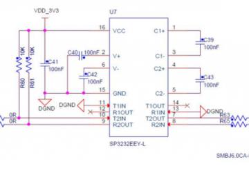基于SP3222E/3232E的RS232串口电路设计