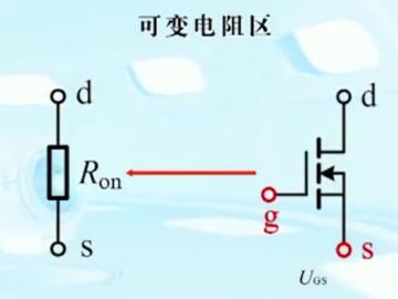 增强型MOSFET的等效模型电路形式