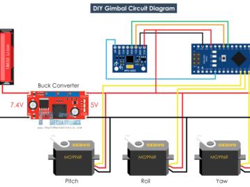 基于Arduino和MPU6050自制云台(附电路图)