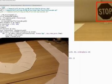 【项目演示】基于Tensorflow、树莓派的无人驾驶小车