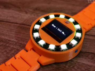 还买Apple Watch?工程师自制智能手表,成本只需100多块。