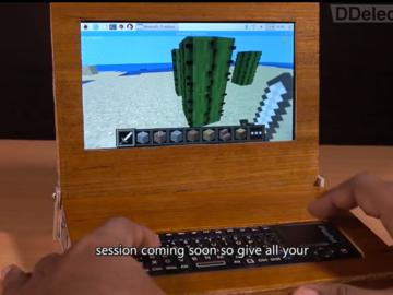 使用树莓派3+胶合板 工程师DIY了一台笔记本电脑
