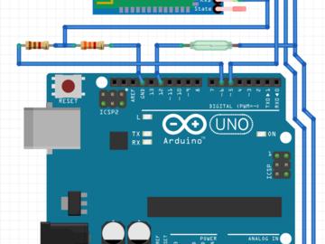 基于Arduino+HC-05蓝牙模块的只能门禁系统电路设计