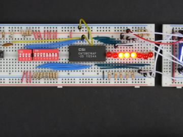 [系列教程]国外大神带你用面包板制作8-bit计算机(输出寄存器3)