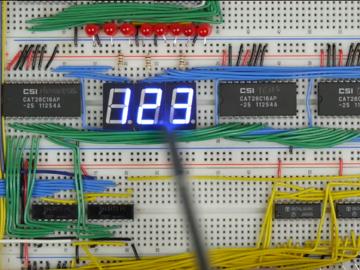 [系列教程]国外大神带你用面包板制作8-bit计算机(输出寄存器4)