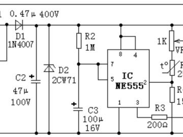簡易溫控裝置原理圖設計,一個Ti NE555就夠了