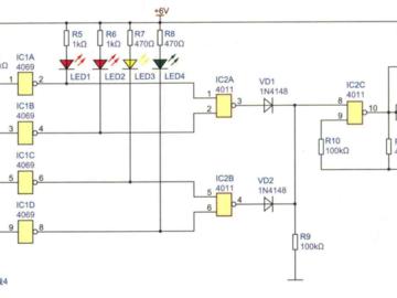 4路断线报警器电路方案设计