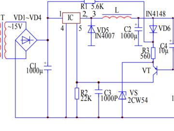 自控节能的开关直流稳压电源电路设计