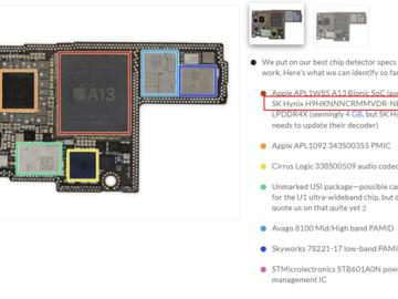 拆解iPhone 11 Pro Max:实锤只有4GB内存,找不到额外的2GB内存