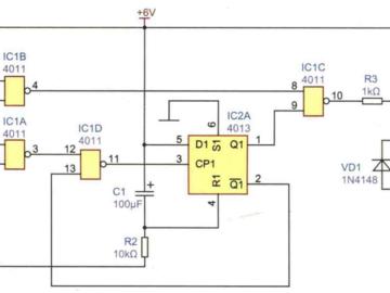 停电自锁开关电路方案设计