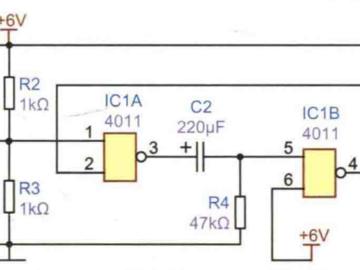 按键控制延时灯电路方案设计