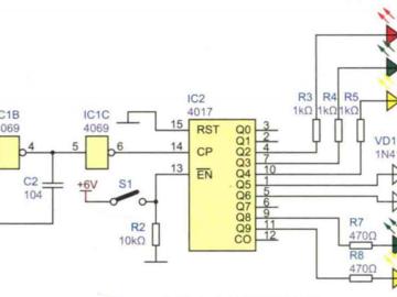 反应能力测试装置电路方案参考设计