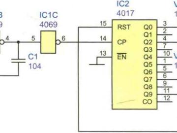 三闪信号灯电路方案设计