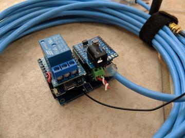 D1微型磁強計車輛檢測,使用QMC5883L檢測車輛,并使用繼電器啟動擺動門以允許退出