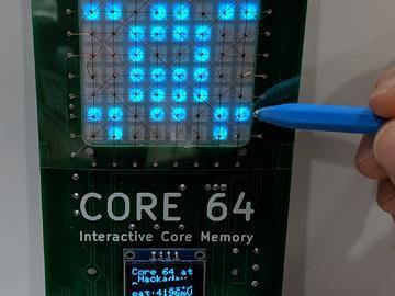 Core 64:交互式Core内存徽章,与核心记忆互动,探索,学习和激励