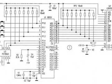 基于PCF8563时钟芯片的万年历电路设计