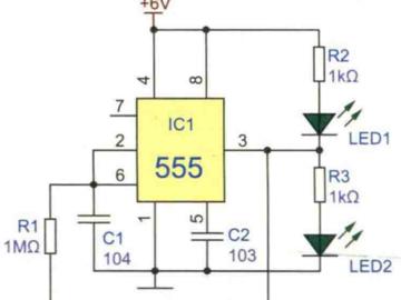 电子闪光胸花电路方案设计