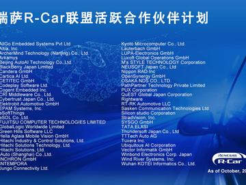 瑞萨R-Car联盟加速汽车电子领域的创新