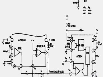高性能加速度传感器频率变换电路