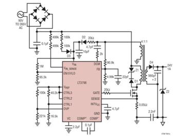 基于反激式控制器的單級轉換器集成有源PFC功能電路方案參考設計