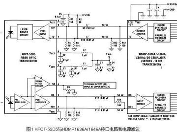 光纤收发器电路图