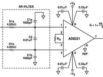 放大器中射頻干擾整流誤差電路盤點