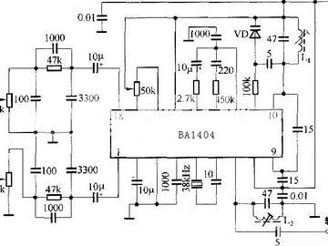 BA1404调频发射芯片内部原理图