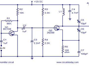 简单的调频发射机电路