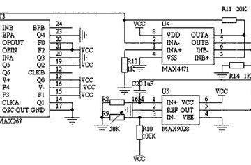 压力传感器电路用滤波和放大电路图