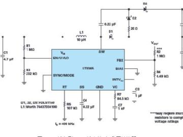 ADI用于通信的高压升压和反相转换器