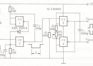 可触发脉冲发生器电路图