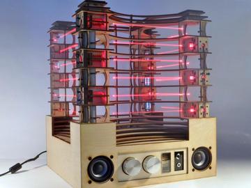 diy一个具有互动潜能的立式激光竖琴